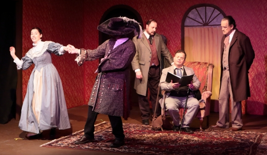 Actress 1, Actor 2, Dr. Watson, Actor 1, Sherlock Holmes